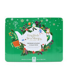 English Tea Shop Organic Premium Holiday Collection Green Gift Tin