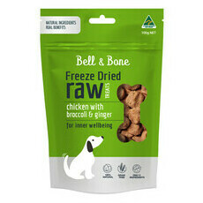 Bell and Bone Freeze Dried Raw Treats - Chicken, Broccoli and Ginger