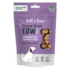Bell and Bone Freeze Dried Raw Treats - Kangaroo, Spinach and Kelp