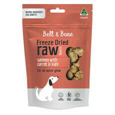 Bell and Bone Freeze Dried Raw Treats - Salmon, Carrot and Kale