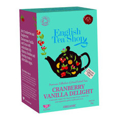 English Tea Shop Organic Tea Bags - Cranberry Vanilla Delight