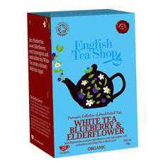 English Tea Shop Organic Tea Bags - White Tea Blueberry & Elderflower