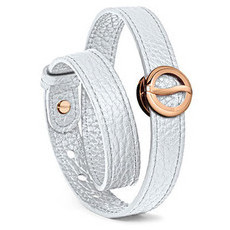 Philip Stein Rose Gold Horizon Classic with Double Wrap Bracelet - Small