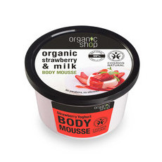 Organic Shop Body Mousse - Organic Strawberry & Milk