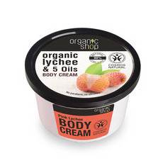 Organic Shop Body Cream - Organic Lychee & 5 Oils