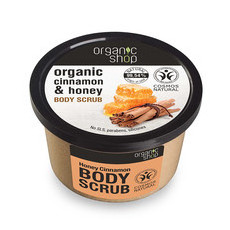 Organic Shop Body Scrub - Organic Cinnamon & Honey
