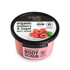Organic Shop Body Scrub - Organic Raspberry & Sugar
