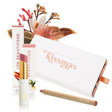 Luk Beautifood Kissmas Duo - Nude Pink Lip Nourish & Caramel Kiss Lip Crayon
