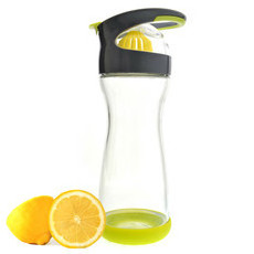 Full Circle Glass Water Bottle - Lemon Water on-the-go