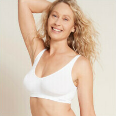 Boody Shaper Crop Bra - White