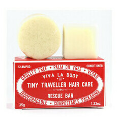 Viva La Body Tiny Traveller Shampoo & Conditioner - Rescue Bar