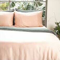 ettitude Sateen Duvet Cover - Cloud Pink