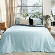 ettitude Sateen Duvet Cover - Starlight Blue