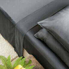 Sateen Fitted Sheet - Slate