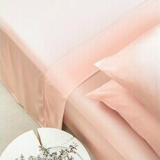 ettitude Sateen Flat Sheet - Cloud Pink