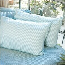ettitude Sateen Sateen Pillowcase Set - Starlight Blue Stripes