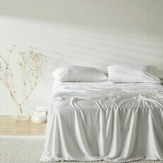 ettitude Sateen Sheet Set - Cloud