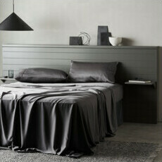 ettitude Sateen Sheet Set - Slate