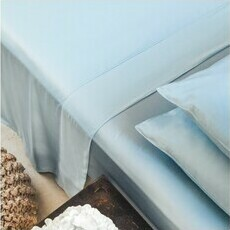 ettitude Sateen Sheet Set - Starlight Blue