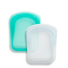 Stasher Pocket 2 Pack - Clear & Aqua