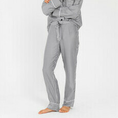 Sateen PJ Pants - Women - Slate Stripes