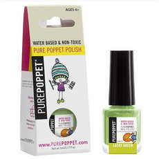 Pure Poppet Natural Kids Nail Polish - Lucky Green