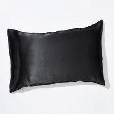Life Basics 100% Peace Mulberry Silk Pillowcase - Charcoal