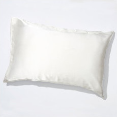 Life Basics 100% Peace Mulberry Silk Pillowcase - White