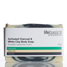 Life Basics White Clay + Activated Charcoal Body Soap