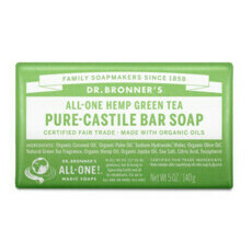 Dr Bronner's Pure-Castile Bar Soap - Green Tea