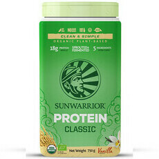 Sunwarrior Classic Raw Vegan Protein Powder - Vanilla