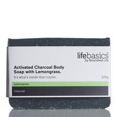 Life Basics Activated Charcoal Body Soap with Lemongrass