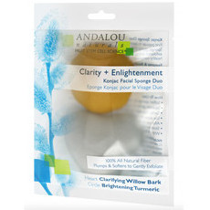 Andalou Naturals Clarity + Enlightenment - Konjac Facial Sponge Duo