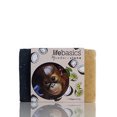 Life Basics by Cedar + Stone Natural Cleanse Bar with Ginger, Lime & Coconut