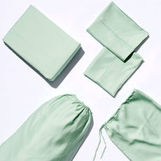 Life Basics Eco Bamboo Sheet & Pillow Set - Sage Green