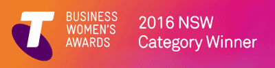 Telstra Business Women's Awards 2016 Category Winner