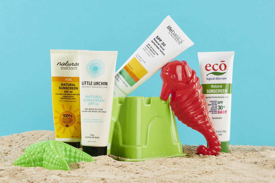 Range of natural sunscreen for kids