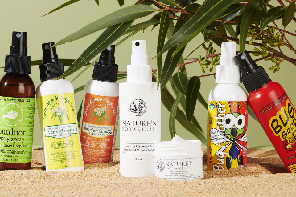 Natural and organic insect repellents, lotions and sprays