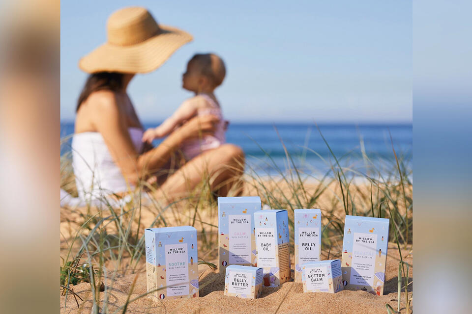 Willow by the sea certified organic baby skin care made in Australia