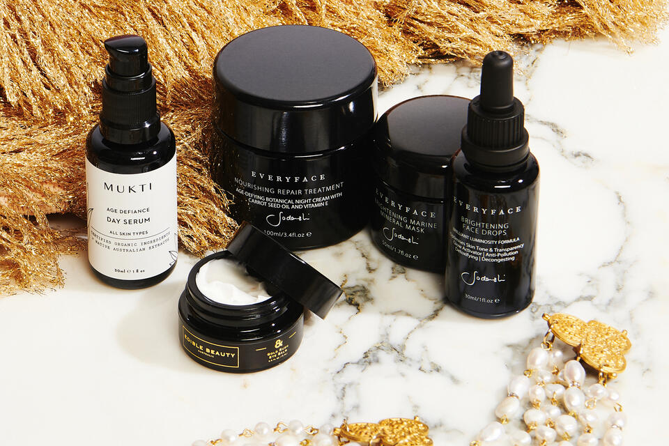 Eco-luxe green beauty products and skin care