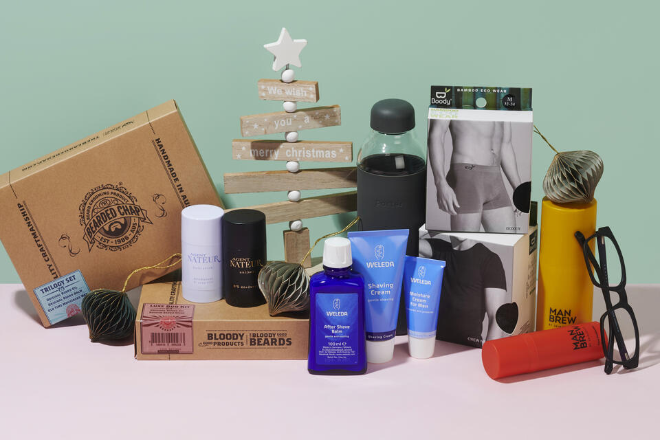 Natural, clean and eco-friendly Christmas and holiday gifts for him