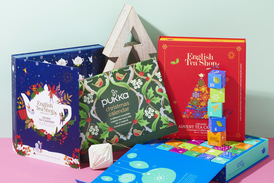 Organic tea and clean beauty advent calendars for Christmas 2019