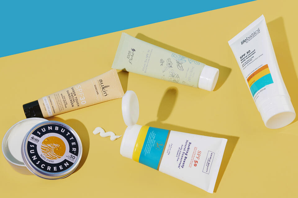 Physical zinc sunscreens, SPF30 and SPF50 ratings